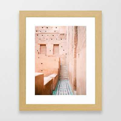 Colors of Marrakech Morocco - El badi palace photo print | Pastel travel photography art Framed Art Print - Society6