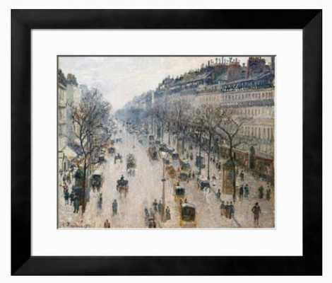 The Boulevard Montmartre on a Winter Morning, 1897 - art.com