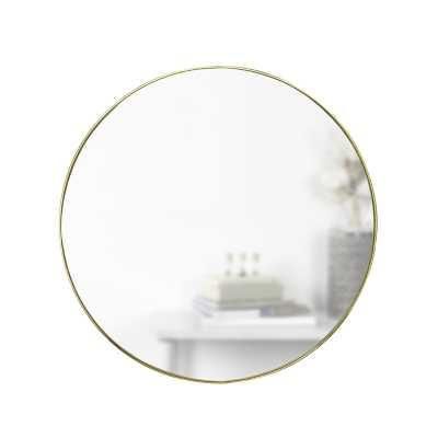 Hubba Modern & Contemporary Accent Mirror / Brass - Wayfair