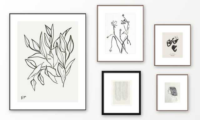 Gallery Wall - Monochromatic Mood - Artfully Walls
