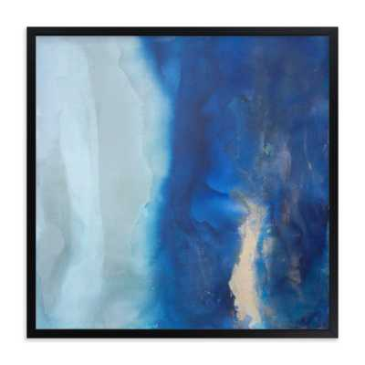 ebbing tide - 16x16 - Rich Black Wood Frame - Minted