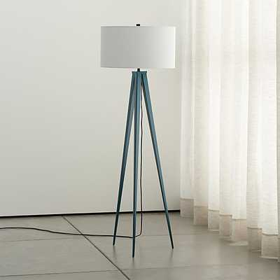 Theo Blue Floor Lamp - Crate and Barrel