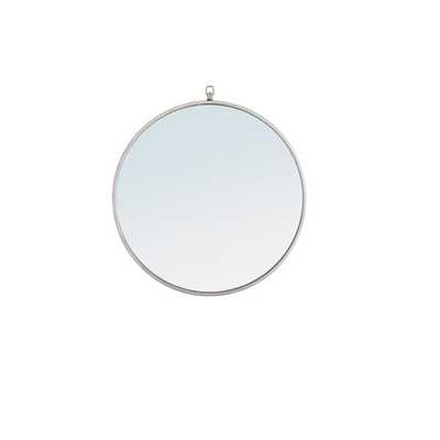 "yedinak Modern & Contemporary Distressed Accent Mirror- 32""- silver - Wayfair"
