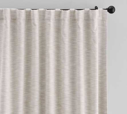 "Seaton Textured Cotton Rod Pocket Curtain, 50 x 96"", Neutral - Pottery Barn"