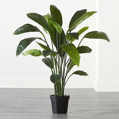 FAUX POTTED LEAF PLANT 4' - CB2