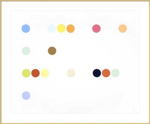Dots (Like) - 44x36 - Frosted Gold Metal Frame with Matte - Artfully Walls