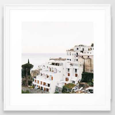 Cliffside View, Positano Framed Art Print - Society6