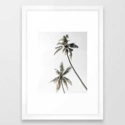 Palm Trees Framed Art Print - Society6