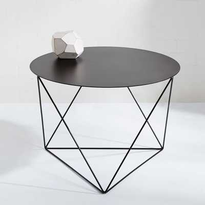 Amigo Modern Octahedron Side Table, Matte Gray - West Elm