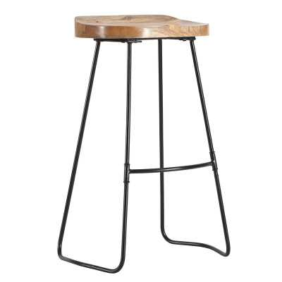 "Crooke Saddle 27"" Bar Stool - Wayfair"