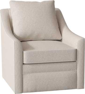 Quincy Swivel Armchair - Nobletex Platinum - Wayfair