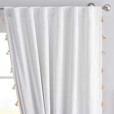 Tassel Blackout Curtain - Gold, Set of 2 - PBteen
