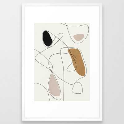 Thin Flow II Framed Art Print - Society6