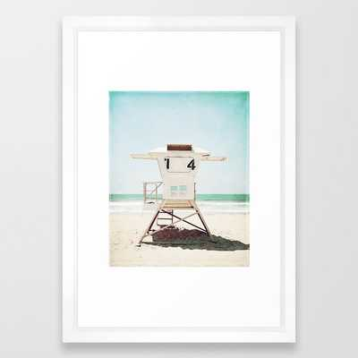 "Lifeguard Stand, Beach Photography, San Diego California, Art Print, 15"" x 21"", Vector white frame - Society6"