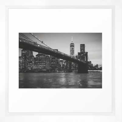 New York Nights Framed Art Print - Society6