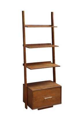 Carlucci Ladder Bookcase - Dark Walnut - Wayfair