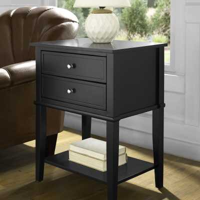 Dmitry End Table With Storage, Black - Wayfair