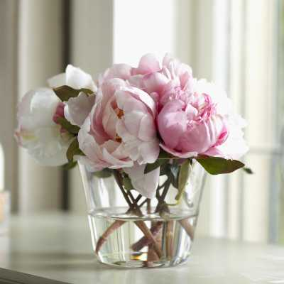 Faux Peony Floral Arrangements in Vase - Wayfair