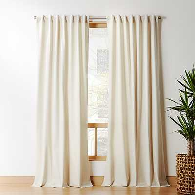 """Natural Tan Basketweave II Curtain Panel 48""""x84"""""" - CB2"