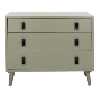 Blaize 3 Drawer Chest - Dark Grey/Black - Arlo Home - Arlo Home