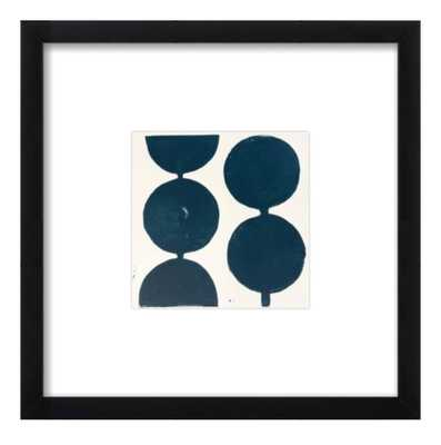 MODERN CIRCLES IN MIDNIGHT BLUE BY STACY RAJAB FOR ARTFULLY WALLS - Lulu and Georgia