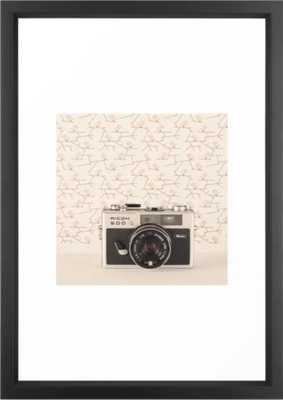 Film Camera (Retro and Vintage Still Life Photography) Framed Art Print - Vector Black - 15 x 21 - Society6