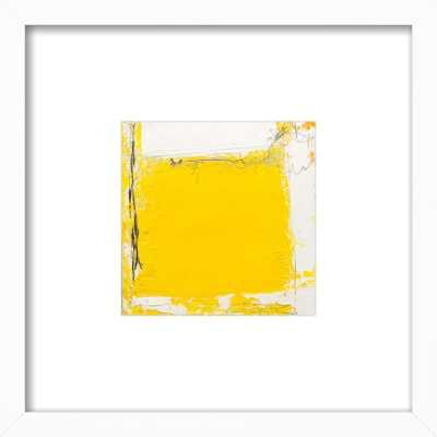 "Tache Jaune - White Wood Frame - 13"" x 13"" - Artfully Walls"