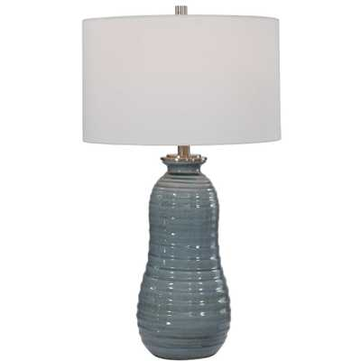 Zaila Light Blue Table Lamp - Hudsonhill Foundry