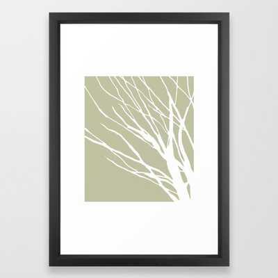 Sage Blues Framed Art Print - Society6