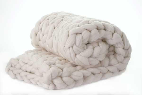 Brezza Chunky Knit Merino Wool Throw - Wayfair