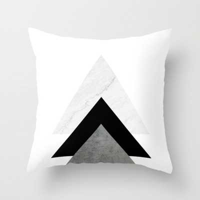 """Arrows Monochrome Collage Throw Pillow - Indoor Cover (18"""" x 18"""") with pillow insert - Society6"""