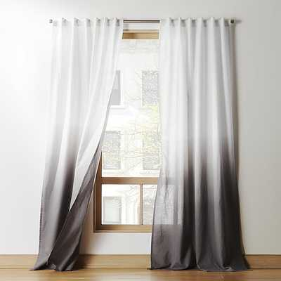 "grey dip dye curtain panel 48""x108""CB2 Exclusive - CB2"