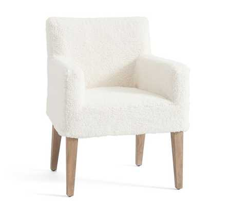 Classic Sherpa Slipcovered Dining Armchair - Pottery Barn