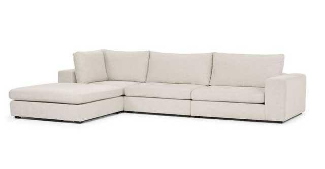Gaba Pearl White Modular Left Sectional - Article