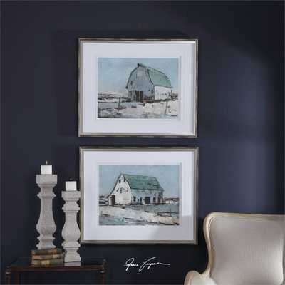 Plein Air Barns Framed Prints, S/2 - Hudsonhill Foundry