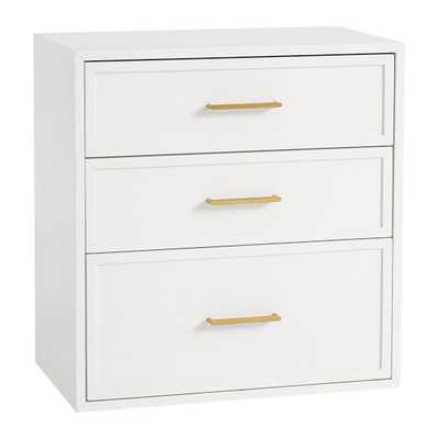 Blaire 3 Drawer, Lacquered Simply White - Pottery Barn Teen