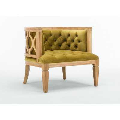 Natural Citron Gold Williamson Barrel Chair - Wayfair