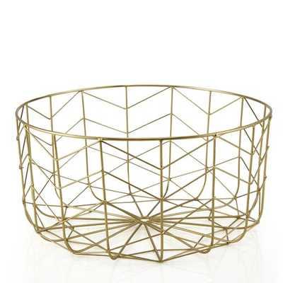 Manor Metal/Wire Basket - Wayfair