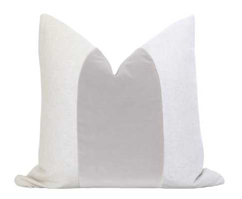Mezzo Pillow Cover (No Insert) - Stainless, 12x18 (Size not shown in image) - Willa Skye