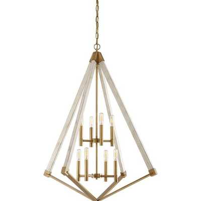 DIAMOND SILHOUETTE TWO TIER CHANDELIER - Shades of Light