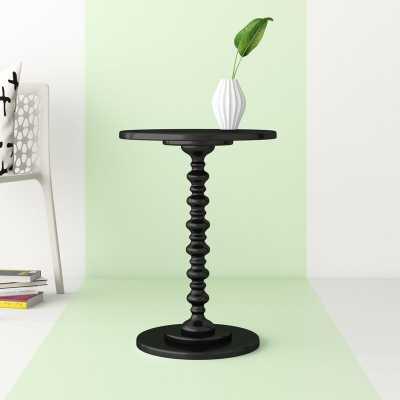 Black Mako Pedestal End Table - Wayfair