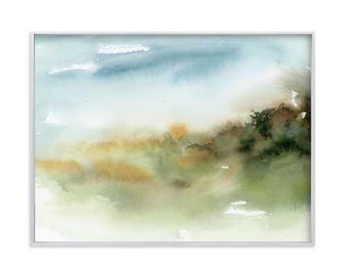Inbetween Spaces - 24x18 brushed silver frame - Minted