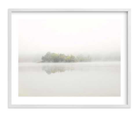 "The Island 20""x16"" White border, White wood frame - Minted"