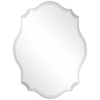 Tintah Oblong Scalloped Frameless Beveled Wall Mirror - Wayfair