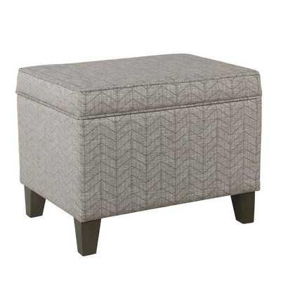 Annet Storage Ottoman- Textured Gray - Birch Lane