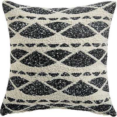"23"" HAZEL BLACK AND WHITE BOUCLE PILLOW WITH DOWN-ALTERNATIVE INSERT - CB2"