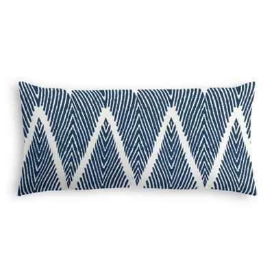Lumbar Throw Pillow | Bali - Denim - Down insert - Loom Decor