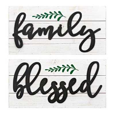Blessed Family Wall Decor - Ast 2 - Mercer Collection