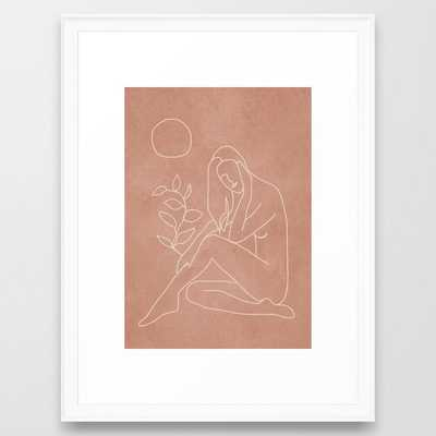 Engraved Nude Line I Framed Art Print - Society6