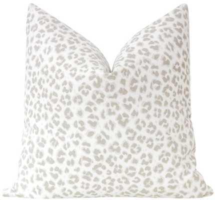 "Cougar Linen Print // Stone - 20"" X 20"" - Little Design Company"